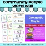 Community People Word Wall Freebie