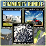 Community Posters BUNDLE | Community Helpers | Transportation | Buildings