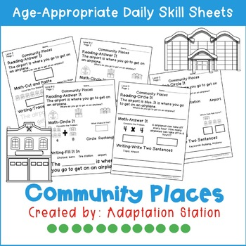 Community Places Adapted Daily Skill Sheets