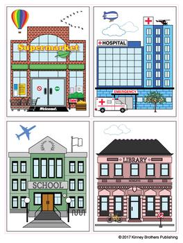 Community Places Flash Card Set