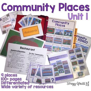 Community Places Mega Unit for Special Education: Unit 1