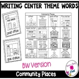 Kindergarten Writing Center- Picture/Vocabulary Card Theme