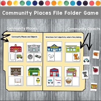 Community Places File Folder Games