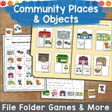 Community Places File Folder Game