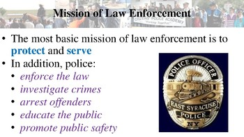 Community Policing Notes for Law Enforcement I