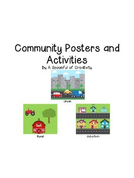 Community Posters and Activities Editable