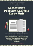 Community Problem Analysis Essay and Unit