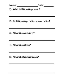 Community Reading Comprehension