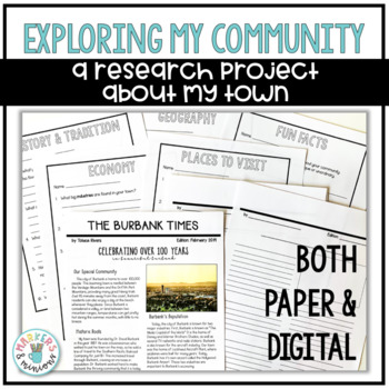 Community Research Newspaper Project (Paper and Google Slides)