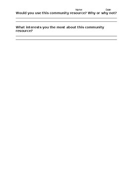 Community Resource Research