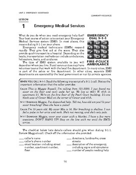 Community Resources: Emergency Assistance-Emergency Medical Services