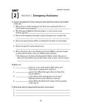 Community Resources: Emergency Assistance-REVIEW