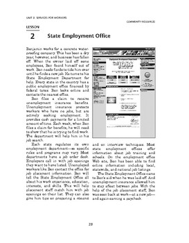 Community Resources: Services for Workers-State Employment Office