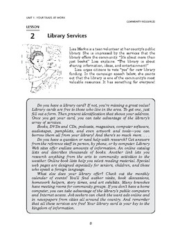 Community Resources: Your Taxes at Work-Library Services