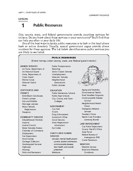 Community Resources: Your Taxes at Work-Public Resources