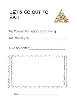 Community Restaurant Scrapbook