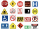 Community/Road Safety Signs Matching Game or File Folder Game
