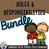 Community Roles & Responsibilities **BUNDLE** Civics Socia