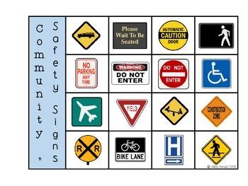 Community + Safety Signs Bingo