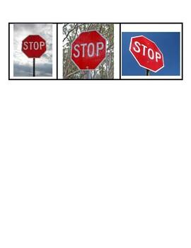 Community Safety Signs Sort File Folder