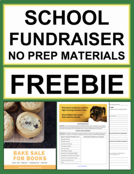 community service activities school fundraiser ideas freebie tpt