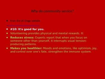 Community Service Benefits