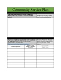 Community Service Plan