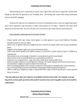 Community Service Project