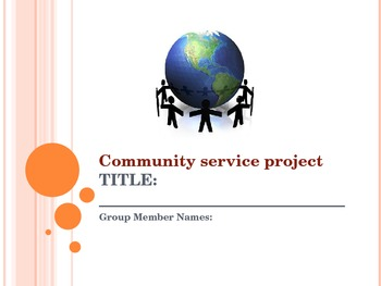 Community Service Project - PowerPoint Template