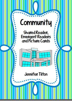 Community Shared Reader, 2 Emergent Readers and Picture Cards
