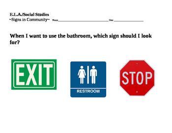 Community Sign ( Bathroom)
