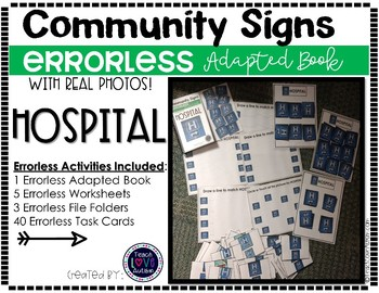 Community Sign Errorless Adapted Book and Activities: HOSPITAL
