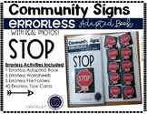 Community Sign Errorless Adapted Book and Activities: STOP
