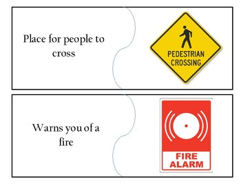 Community Sign Flash Cards