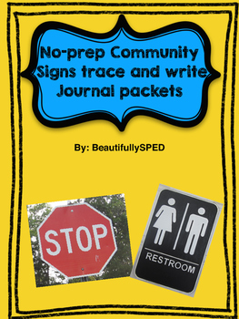 Community Sign Journals( using real pictures)