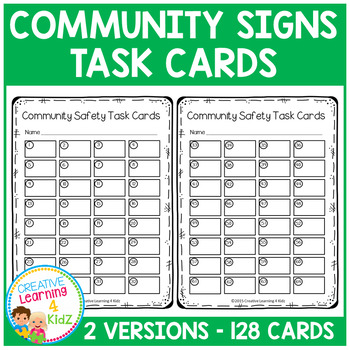 Community Signs Task Cards Survival Signs