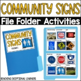 Safety Signs File Folder Activity