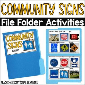 SPED Life Skills- Safety Signs File Folder Activity
