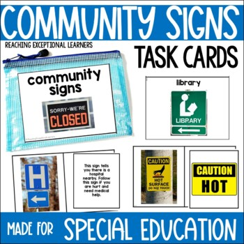 Safety Signs-Task Card Set- Special Education