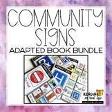 Community Signs Adapted Books Bundle {Reading in Real Life}