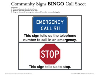 Community Signs BINGO