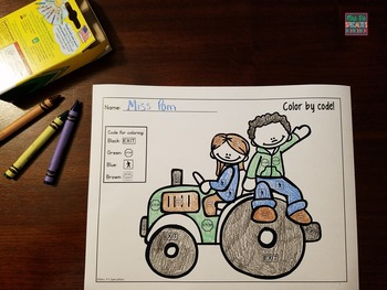Community Signs: Color By Code for Fall (Life Skills)