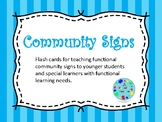 Community Signs Flash Cards
