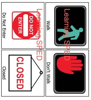 Community Signs Flash Cards Social Skills lesson learning