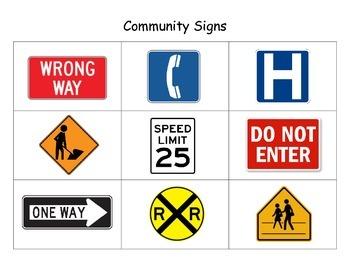 Community Signs Flashcards