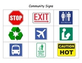 Community Signs Flashcards