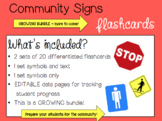 Community Signs Flashcards & DATA Pages