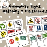 Community Signs Flashcards & Matching