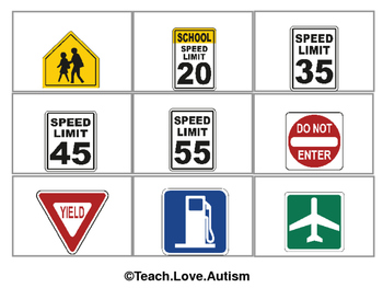Community Signs Flashcards -- WORDLESS VERSION