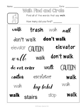 Community Signs Games and Worksheets - Unit 1 - for Special Education